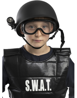 Capacete polícia SWAT para meninos