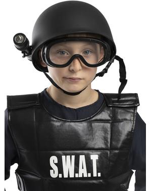 Casque policier SWAT enfant