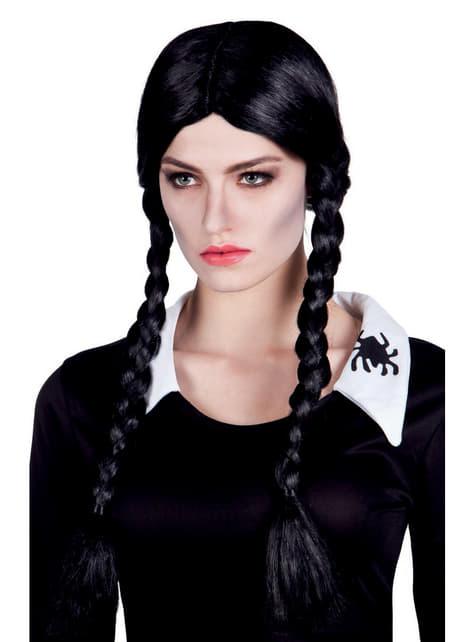 Perruque tresses fille mystérieuse femme