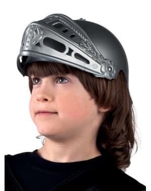 Чоловічий середньовічний шолом воїна
