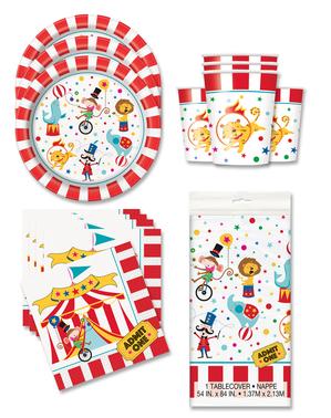 Cirkusové dekorácie na párty pre 16 osôb