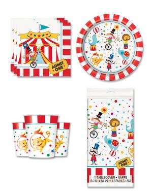Cirkusové dekorácie na párty pre 8 osôb