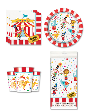 Sirkus Festdekorasjoner for 8 Personer