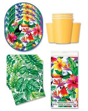 Decoración fiesta Tropical 16 personas - Palm Tropical Luau