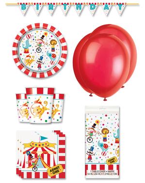 Décoration fête premium cirque 8 personnes