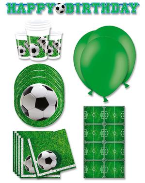 Decoración fiesta premium Futbol 16 personas