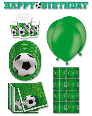 Premium Football Party Decorations for 16 People