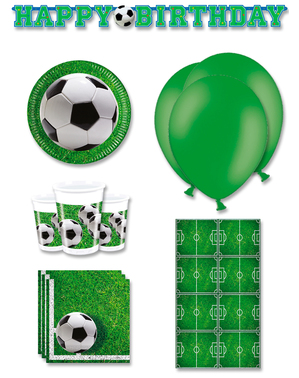 Premium Football Party Decorations for 8 People