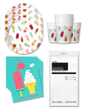 Διακοσμητικά για Πάρτι με Παγωτό για 16 Άτομα