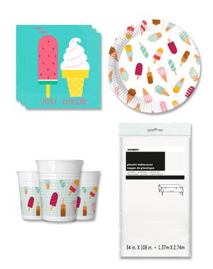 Διακοσμητικά για Πάρτι με Παγωτό για 8 Άτομα