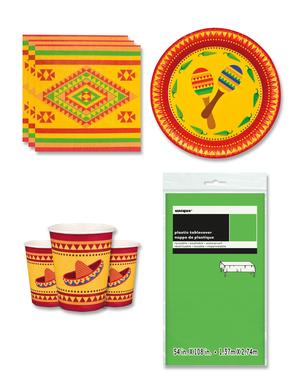 Meksiko juhlakoristeet 6 hengelle