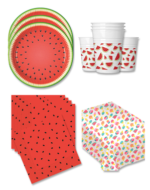 Watermelon Party Decorations for 16 People