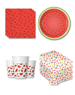 Watermelon Party Decorations for 8 People