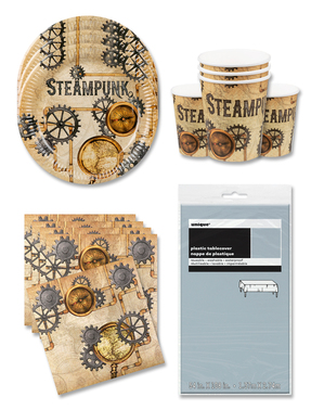 Dekoracje imprezowe Steampunk na 12 osób