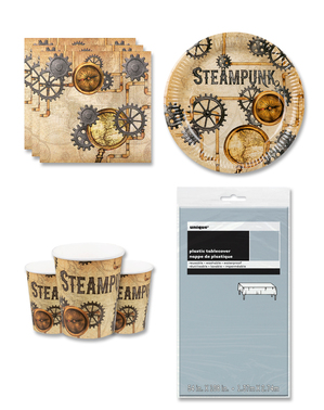 Steampunk Party Decorations for 6 People