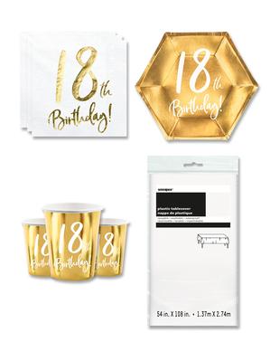 18. syntymäpäiväjuhlakoristeet 8 hengelle
