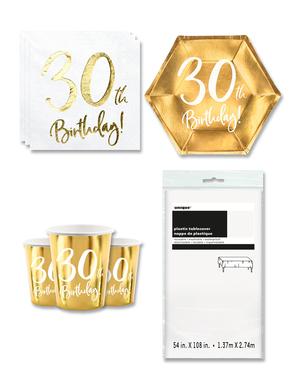 Décoration anniversaire 30 ans 8 personnes