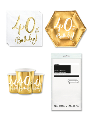 40. syntymäpäiväjuhlakoristeet 8 hengelle