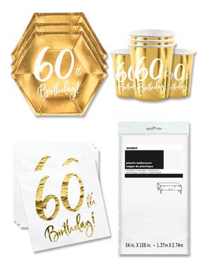 Party Deko 60. Geburtstag 8 Personen