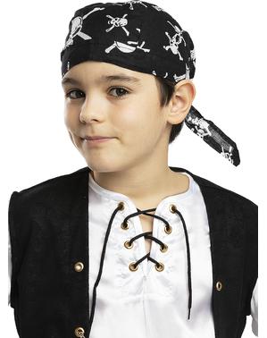 Eșarfă de pirat neagră pentru copii