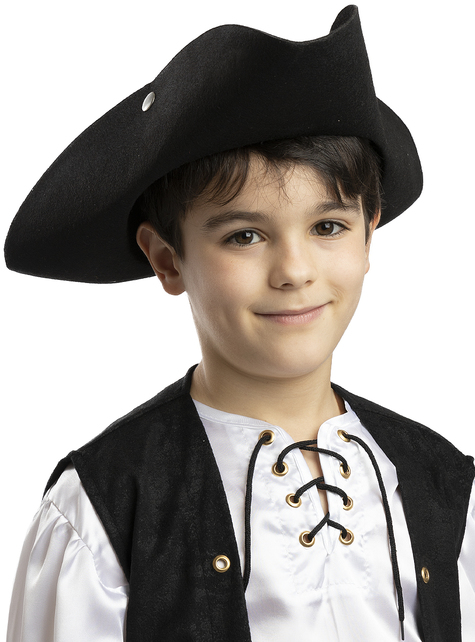 Sombrero de pirata negro para niños
