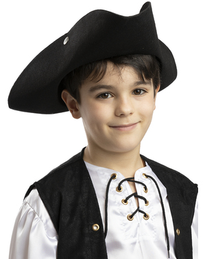 Chapéu de pirata preto para menino
