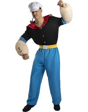 Popeye Kostyme til voksne - Plusstørrelse