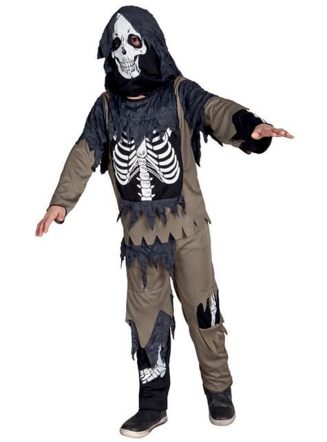 Boy's Raggedy Skeleton Costume