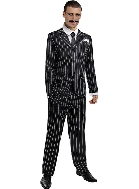 Disfraz de gángster negro años 20 talla grande