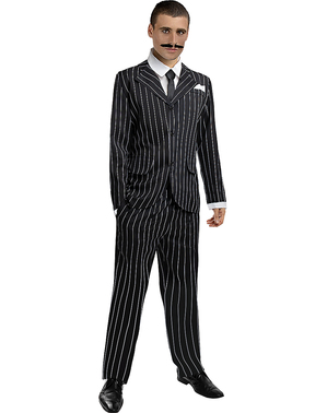 1920s Gangster Costume in Black Plus Size