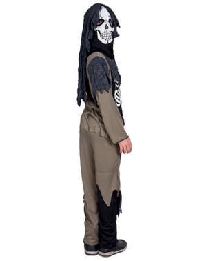 Disfraz de esqueleto con harapos para niño