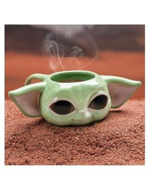 Mandalorian Baby Yoda 3D krigla - Ratovi zvijezda