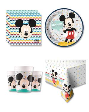 Micky Geburtstagsdeko 16 Personen - Mickey Awesome