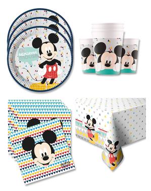 Mickey Fødselsdagsdekorationer til 8 Personer - Mickey Awesome