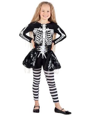 Girl's Skeleton Costume with Skirt