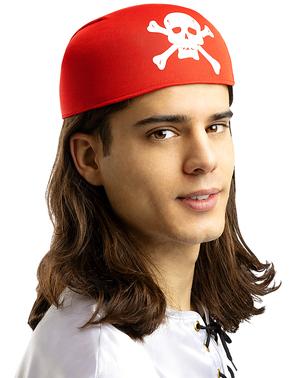 Rødt Kranie Bandana