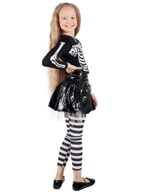 Disfraz de esqueleto con falda para niña - niña