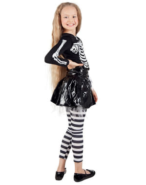Girl's Skeleton Costume with Skirt