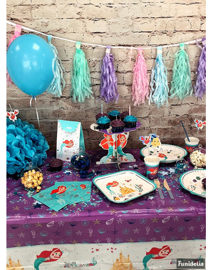 Ariel Malá morská víla, narodeninové dekorácie pre 16 osôb