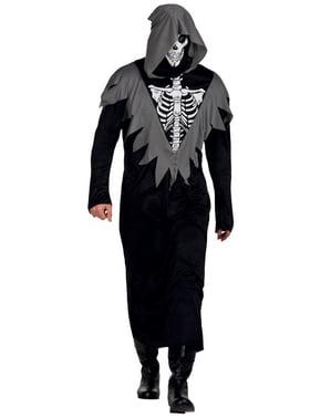 Man's Skeletal Gravedigger Costume