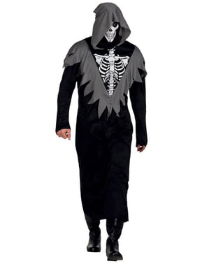 Skelet doodgraver kostuum voor mannen