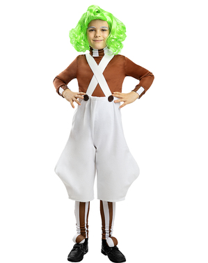 Oompa Loompa Kostüm für Kinder - Charlie und die Schokoladenfabrik