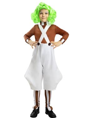Oompa Loompa kostuum voor kinderen - Sjakie en de Chocoladefabriek
