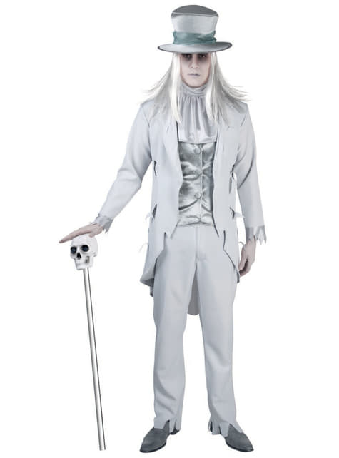Man's Sinister Ghost Costume