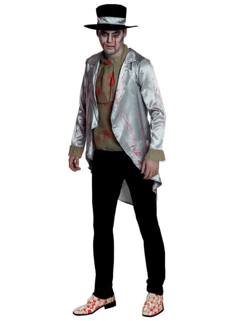 Disfraz de novio sangriento para hombre