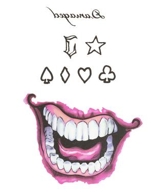 Joker tetovania - Suicide Squad