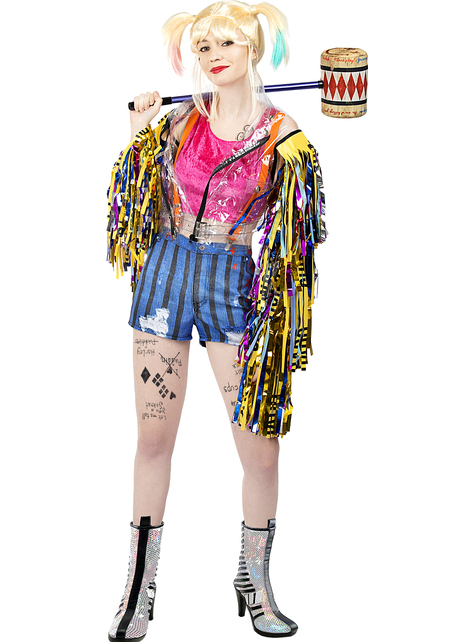 Strój z frędzlami Harley Quinn plus size - Ptaki Nocy