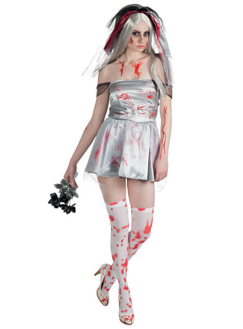 Woman's Bloody Bride Costume