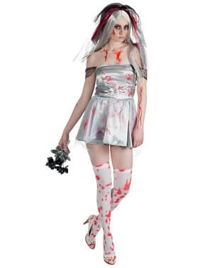 Disfraz de novia muerta sangrienta para mujer