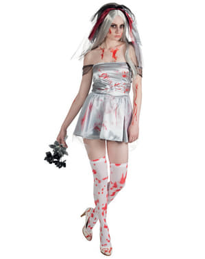 Disfarce de noiva morta sangrenta para mulher